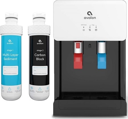 3Avalon A8CTBOTTLELESSWHT Countertop Self Cleaning Touchless Bottleless Cooler Dispenser