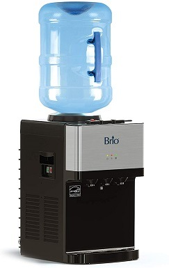 6Brio Limited Edition Top Loading Countertop Water Cooler Dispenser with Hot Cold and Room