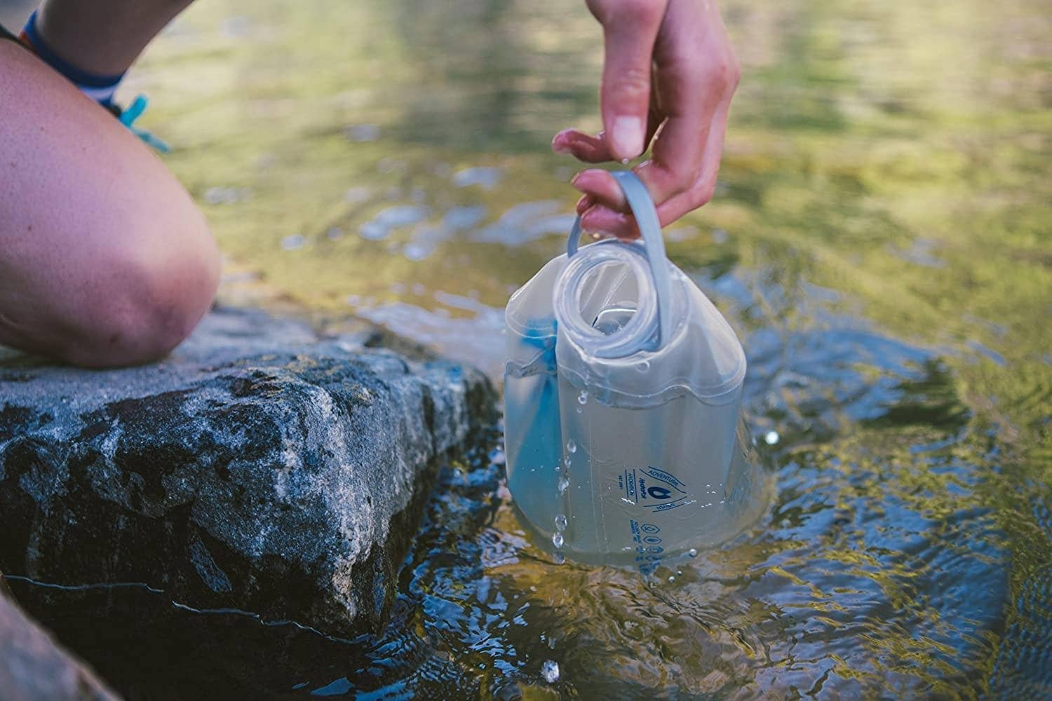 Using a gravity water filter in a pond