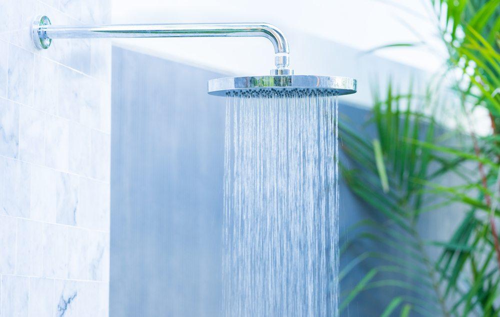 luxury outdoor shower head