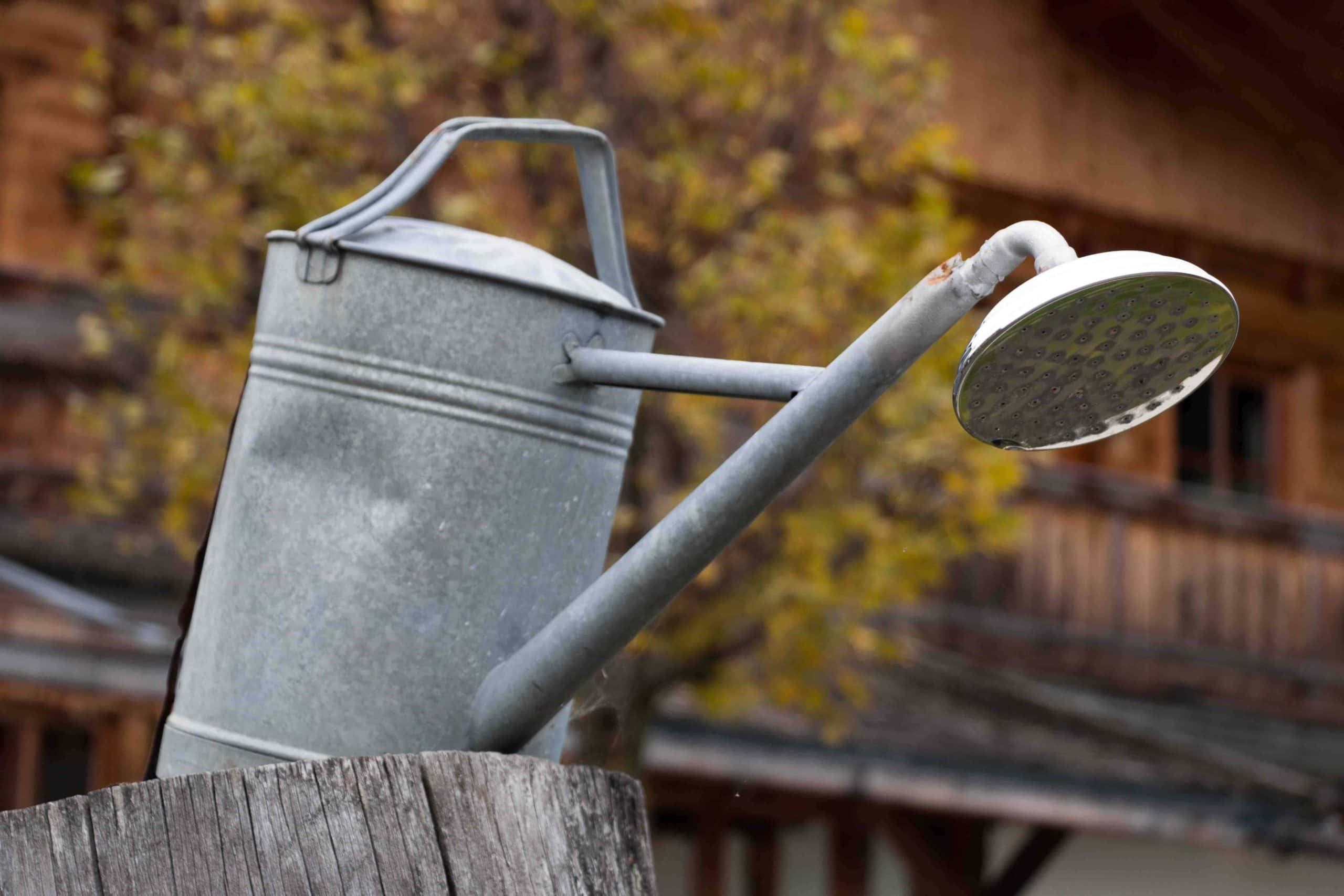 outdoor watering can shower
