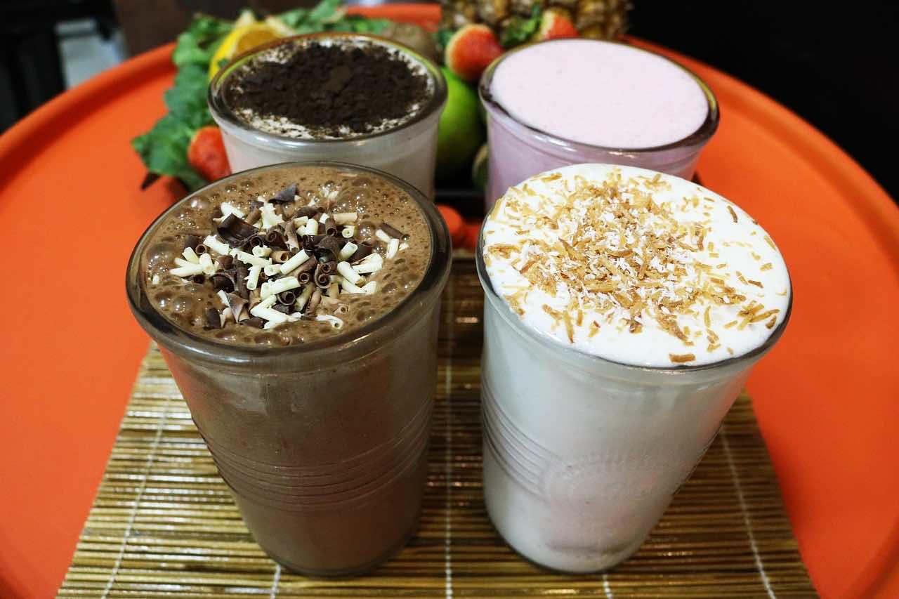 sugary milkshakes