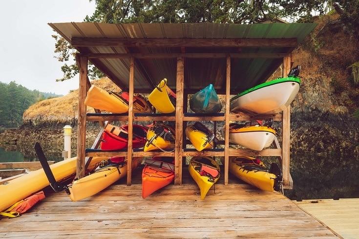 5 Free Diy Kayak Storage Rack Plans You, Kayak Storage Outside